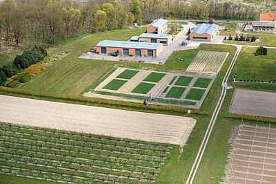 Aerial view of ATB's research site Marquardt (Photo: ATB)