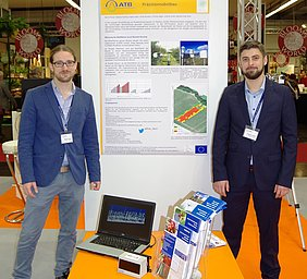 ATB scientists Martin Penzel and Evgeny Gubin presented the application of LiDar technology in precision fruticulture.