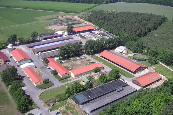 Aerial view of the LVAT in Groß Kreutz from 2007 (Photo: Berner/LVAT)