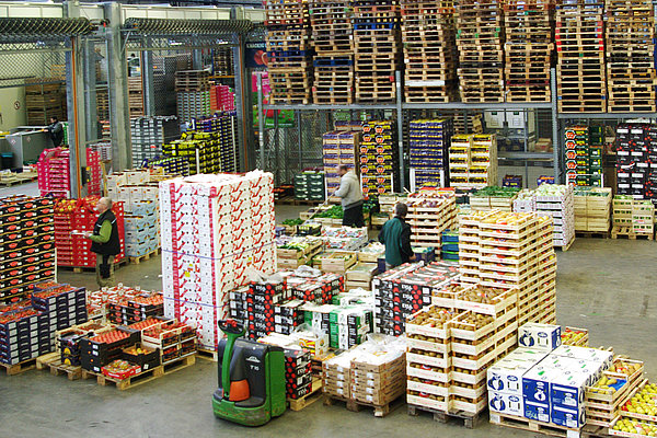 Wholesale market for fruit and vegetables (Photo: Burdack/ATB)