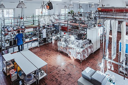 View into the biogas laboratory (Photo: Manuel Gutjahr)